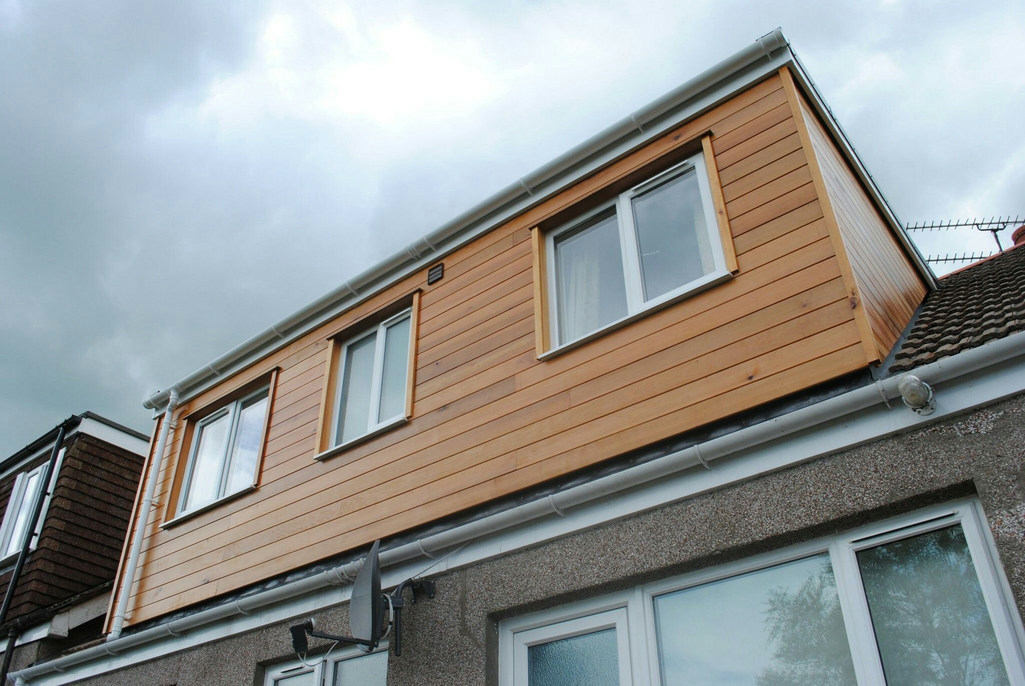 Cedar clad dormer window surrounds building pinterest for Window cladding