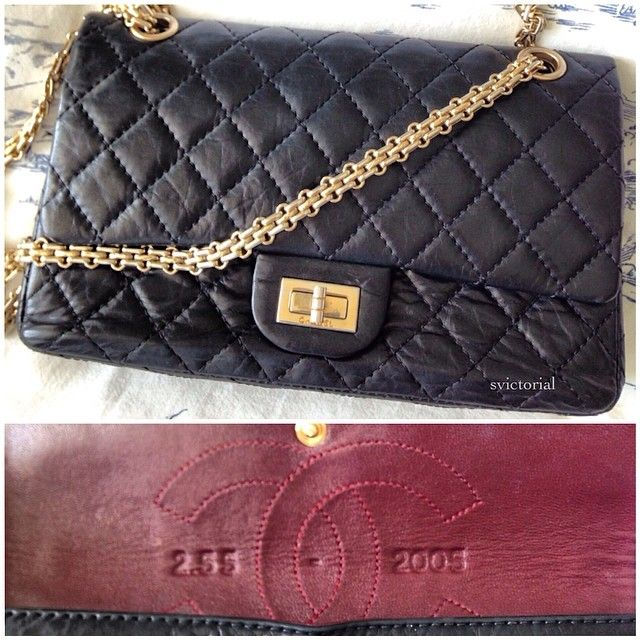 f3f3b3da6 Chanel Reissue 2.55 from 2005 (anniversary of original created by Gabrielle  Chanel in 1955)