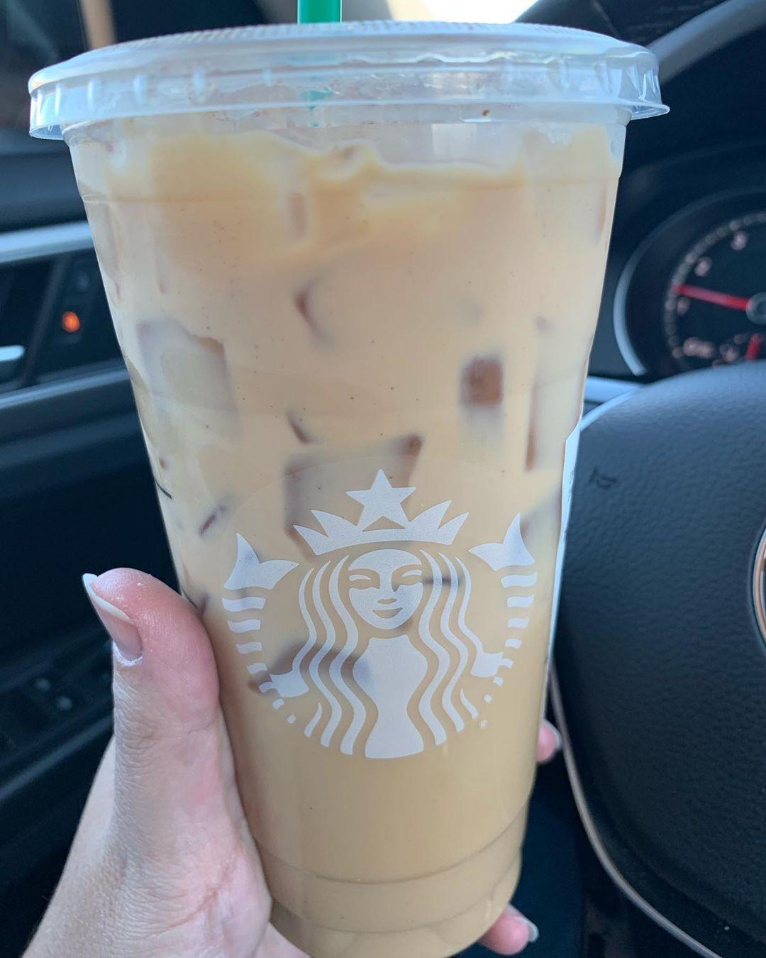 Starbucks Iced Cinnamon Dolce Latte #starbucks #latte