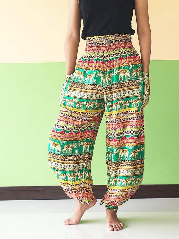 green Ginnie pants casual for women