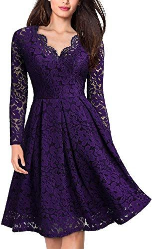 Enjoy exclusive for MISSMAY Women's Vintage Floral Lace V Neck Cocktail Party Swing Dress online - Perfecttopagain #cocktailpartydresses