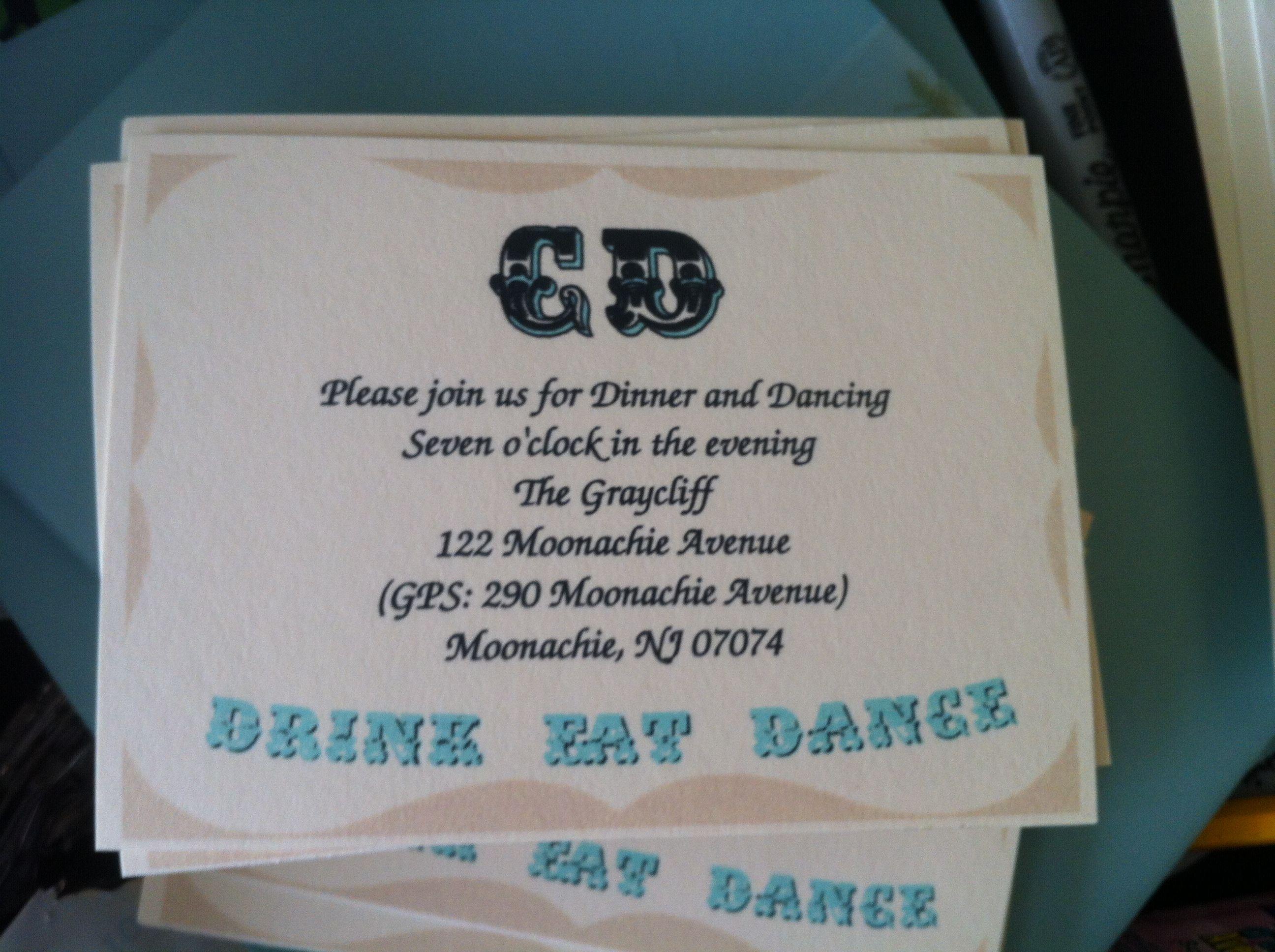 Reception invitation Reception invitation My Wedding
