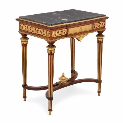 antique louis xvi style ormolu mounted side table by picard rh pinterest com