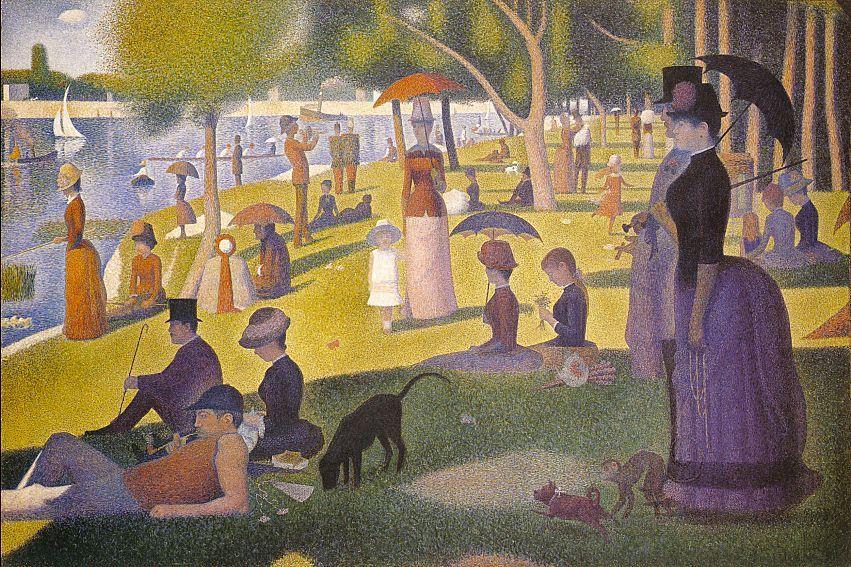 Georges Seurat, Una domenica pomeriggio all\u0027isola della Grande-Jatte