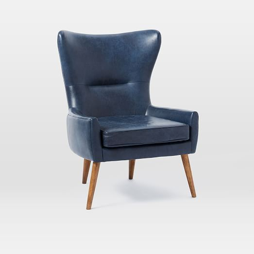 erik leather wing chair high street leather chair with ottoman rh pinterest com