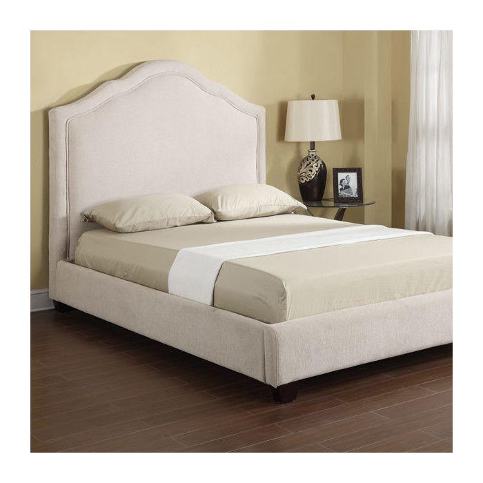 Youu0027ll love the Pamela Upholstered Platform Bed