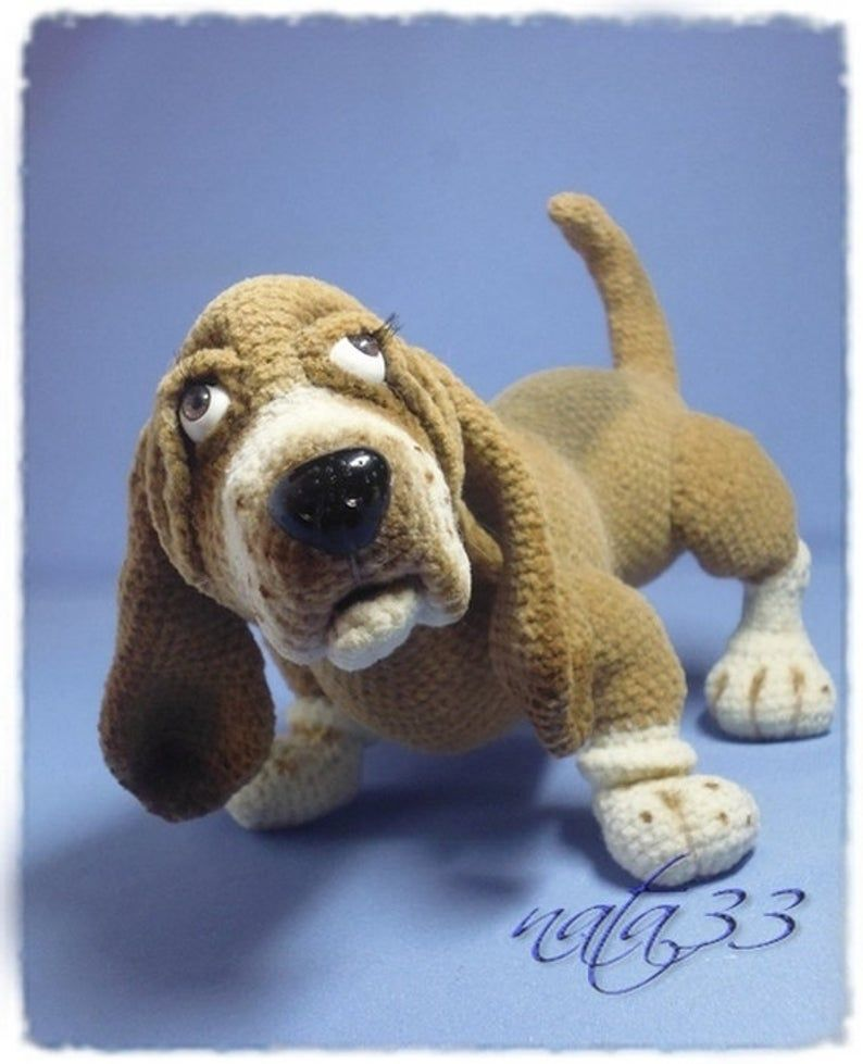 Boris, The Basset Hound Puppy - Amigurumi Pattern - Delicious Crochet | 979x794