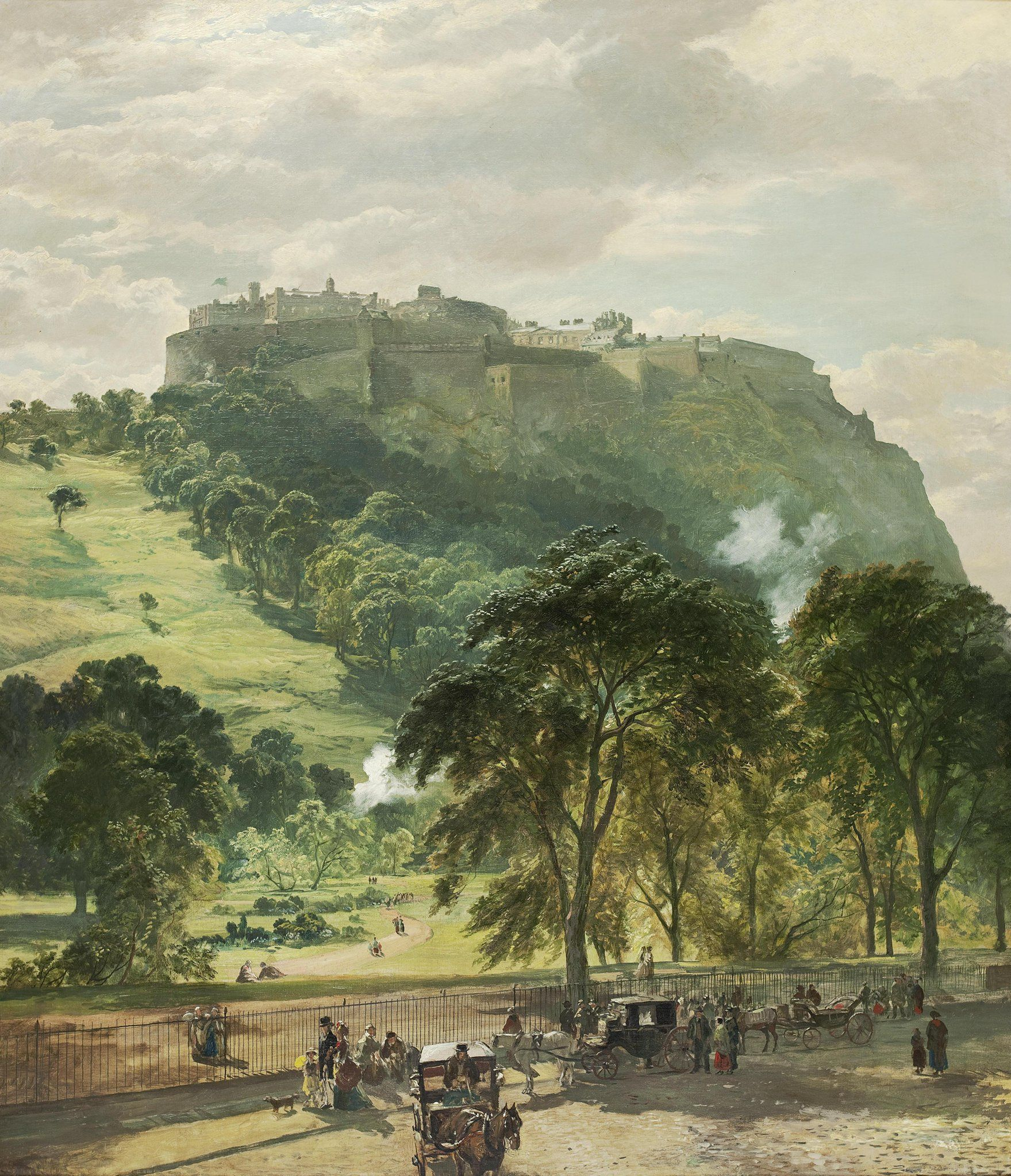 Samuel Bough Scottish Edinburgh Castle From Princes Street ART