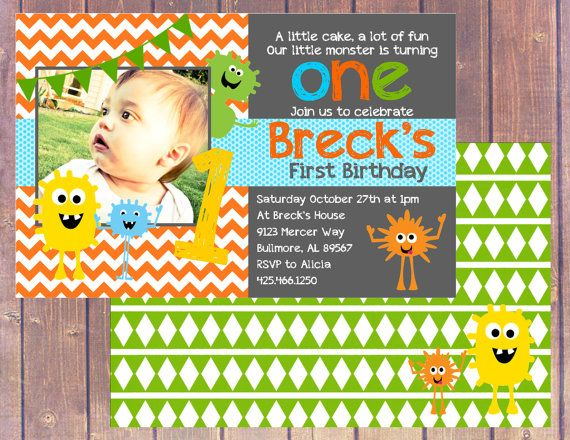 Little Monster Invite Tyler\u0027s First Birthday Bash Pinterest - monster resume templates