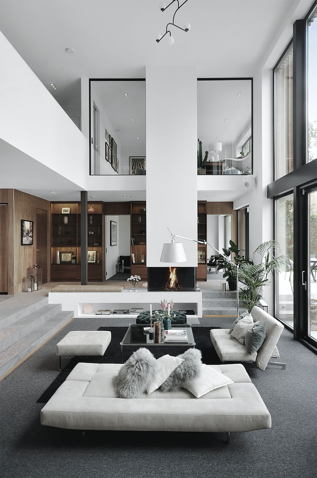 Magnificent High Ceiling Swedish Home  Interior design living