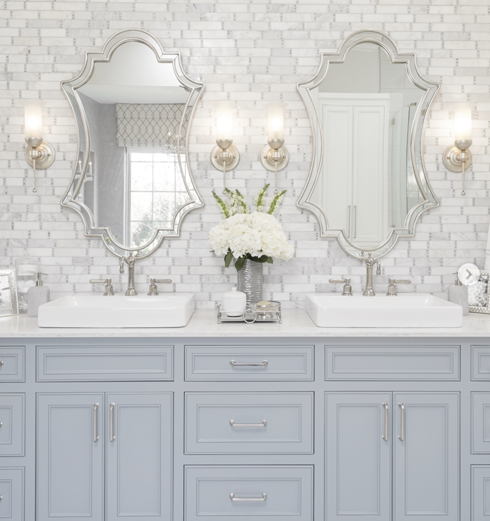 Navy Blue Paint Colors Schneiderman S The Blog Design And Decorating Blue Powder Rooms Bathroom Paint Colors Painting Bathroom