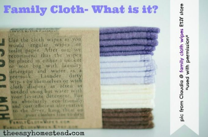 Family Cloth- What is it   Homesteads, Toilet paper and Modern ...
