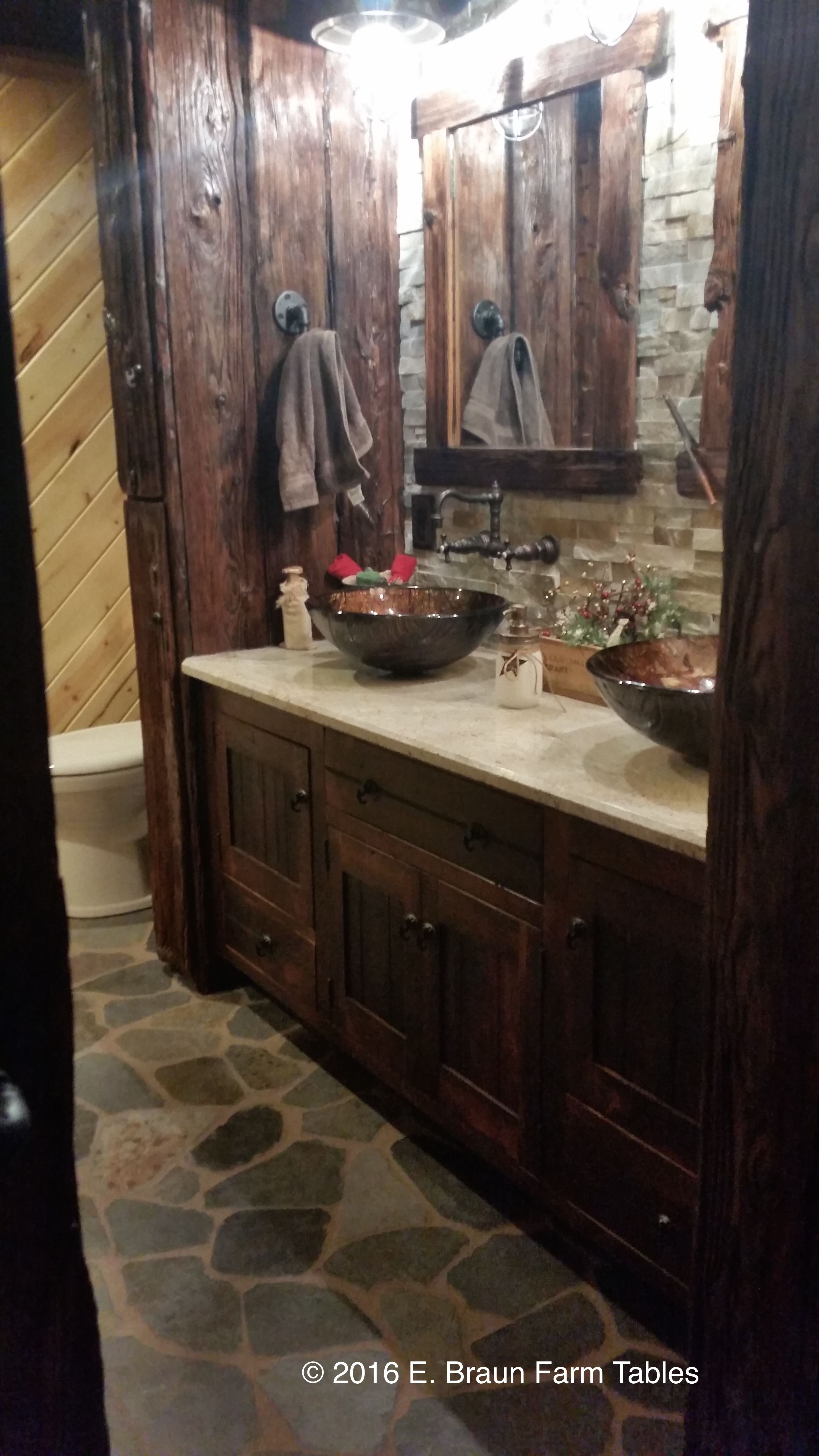 handcrafted custom vanity using reclaimed antique barn wood some rh pinterest com