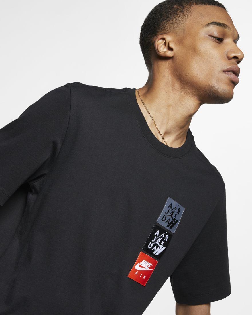 41e117189e Nike Mens T-Shirt Jordan Legacy AJ4 Woven Labels in 2019