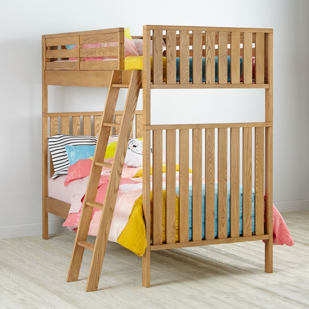 Best Twin Over Twin Cargo Bunk Bed Natural The Land Of Nod 400 x 300