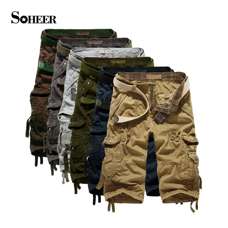 SOHEER Hot Sale Cargo Shorts Men Casual Summer Brand Army Shorts ...