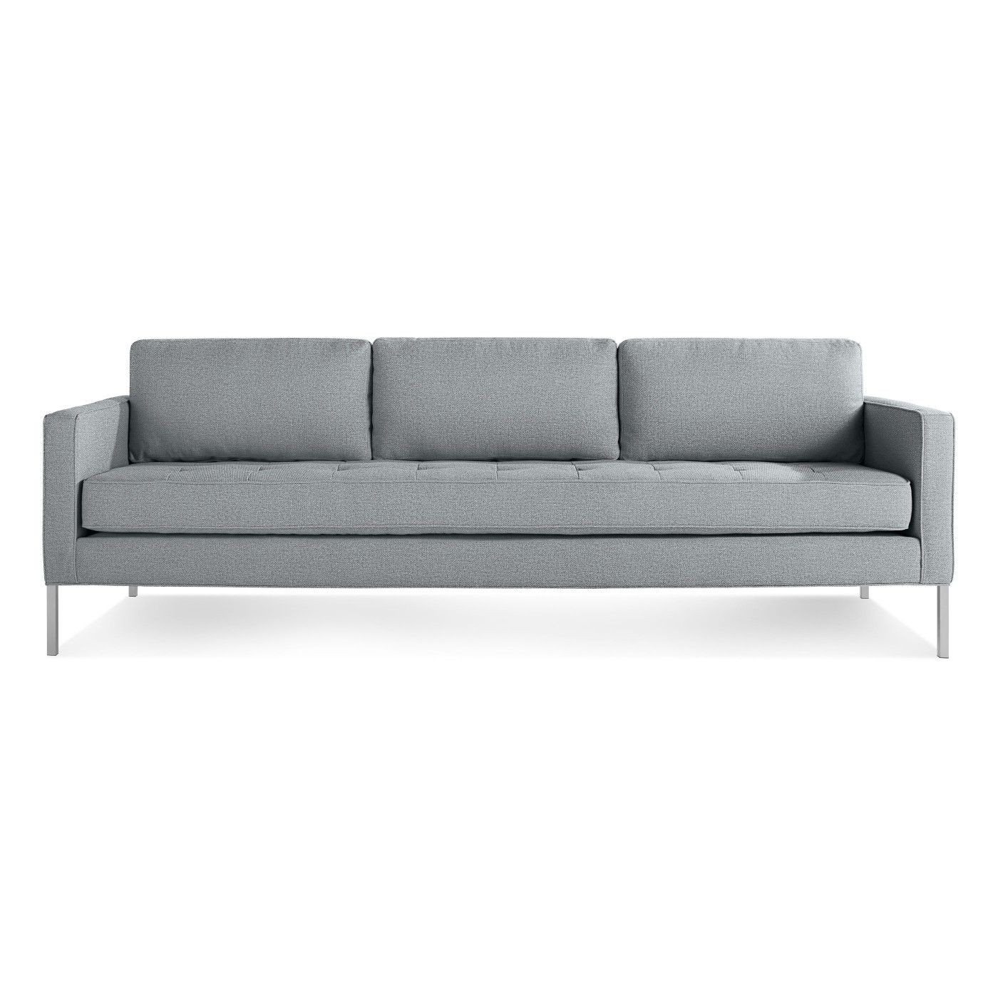 Paramount Tufted Sofa features a tufted cushion