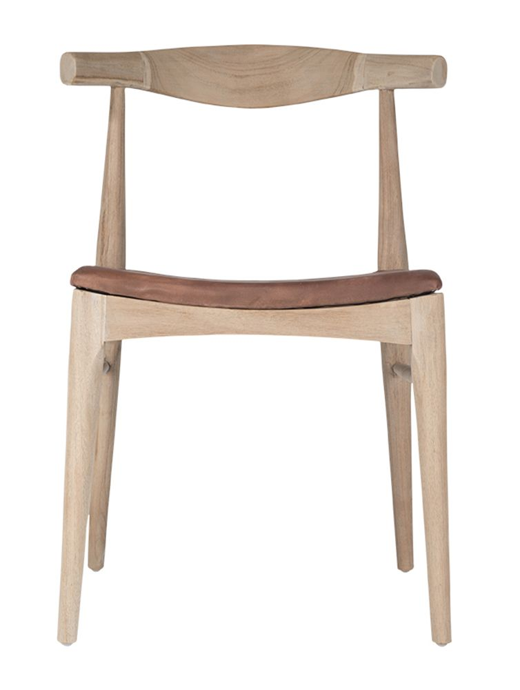 Uniqwa Horn Dining Chair Brown Leather