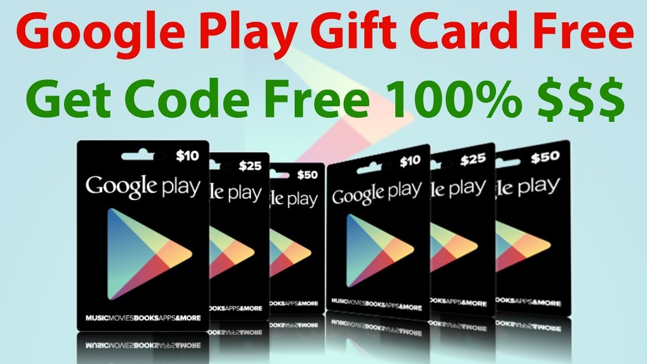 free google play gift card no human verification
