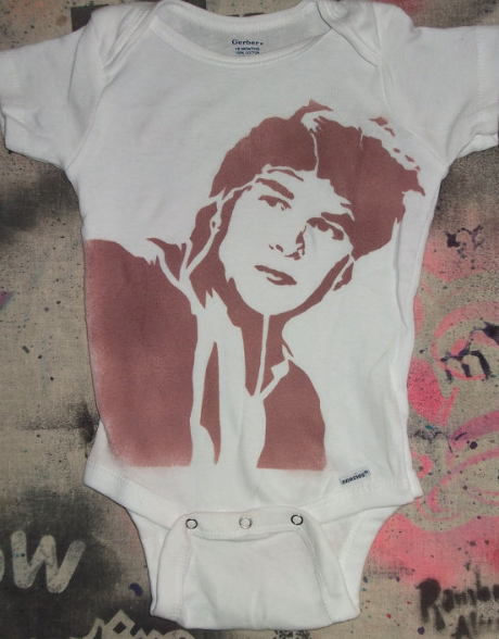 Baby Gift: Dirty Dancing Patrick Swayze by Rainbow Alternative at Etsy.