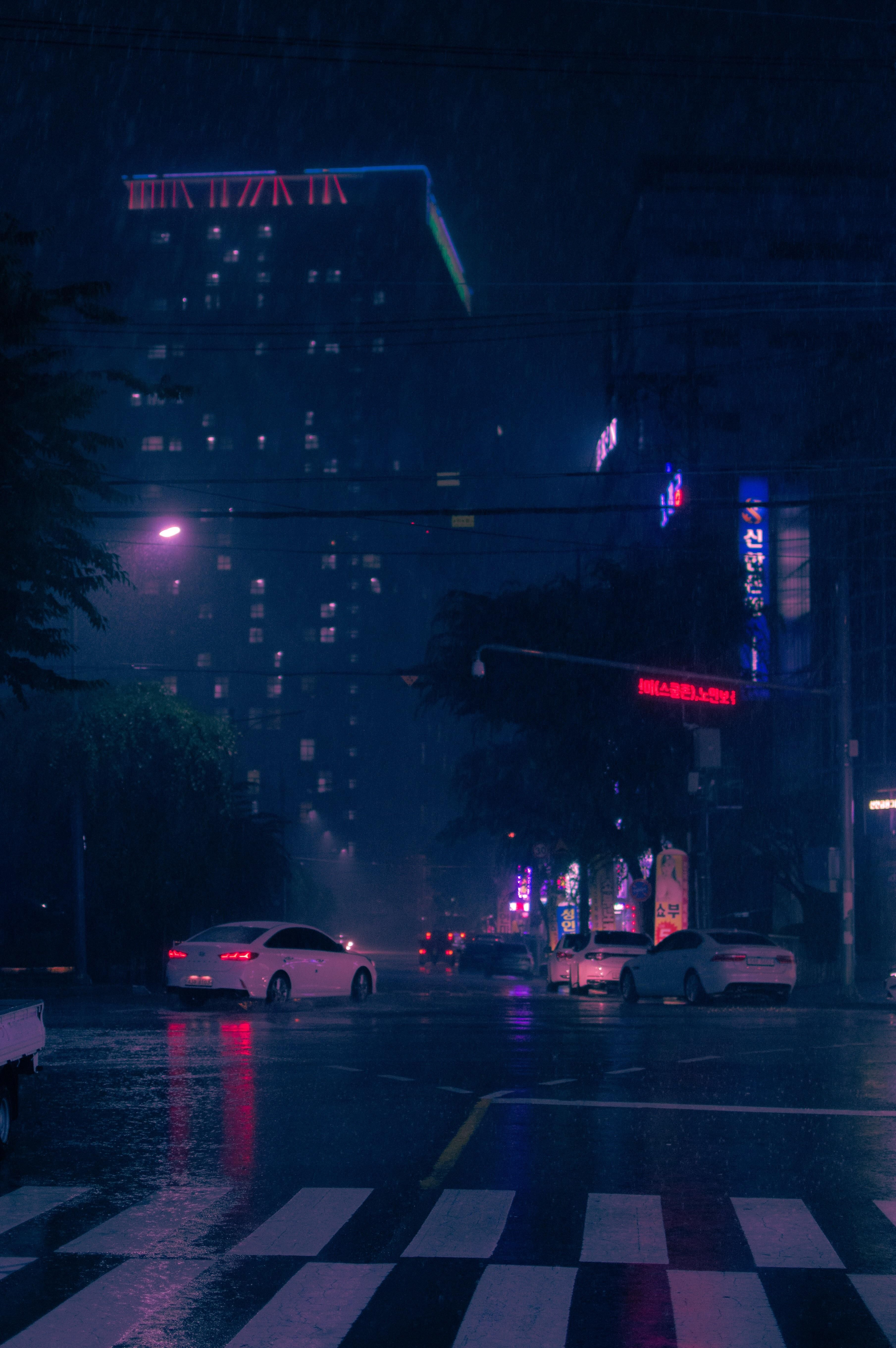 Outrun Subreddits Curated By U Inkorp Dark City Anime Scenery Aesthetic Backgrounds
