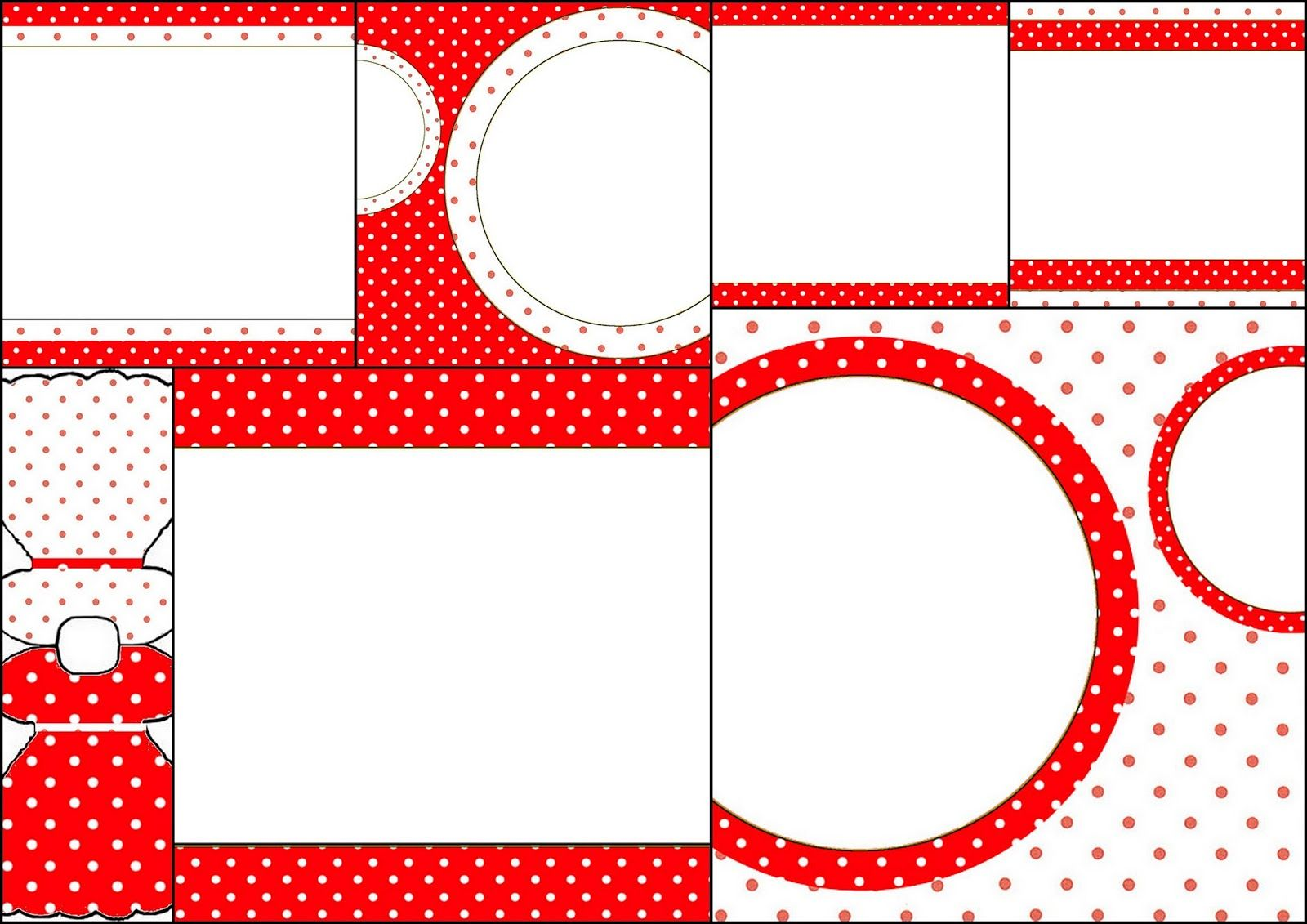 Red and White Polka Dots: Free Printable Invitations.   Just Girls ...