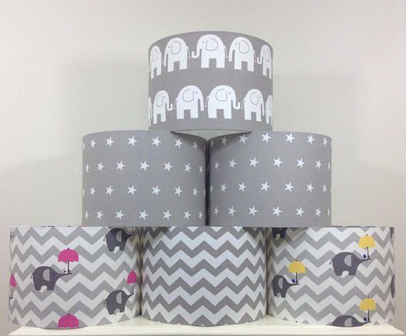 Grey Nursery Lampshade Lightshade