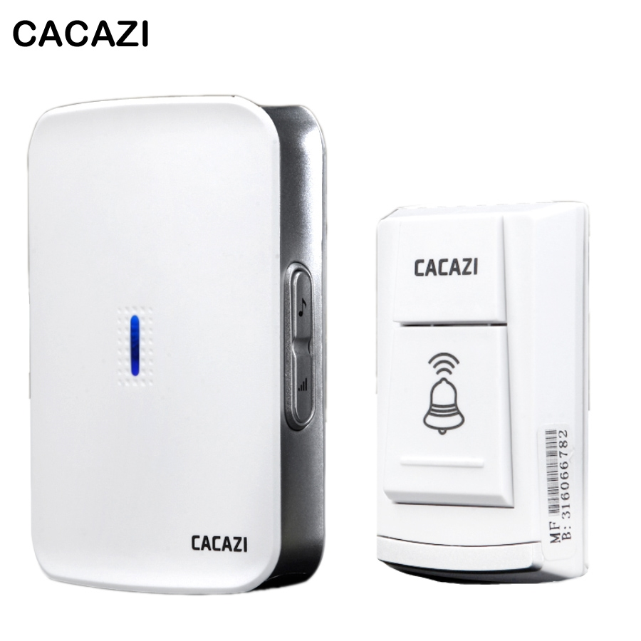 11.04$  Watch now - http://alipzv.shopchina.info/go.php?t=32795197355 - DC wireless doorbell 150M remote control waterproof Door bell Wireless Need  battery 36 Tunes CACAZI W906  11.04$ #buyonline