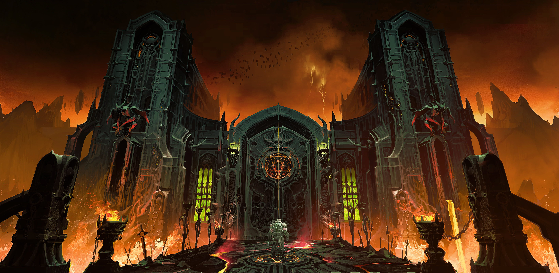 DOOM Eternal Doom Slayers Club #Hellgate #5K #wallpaper # ...