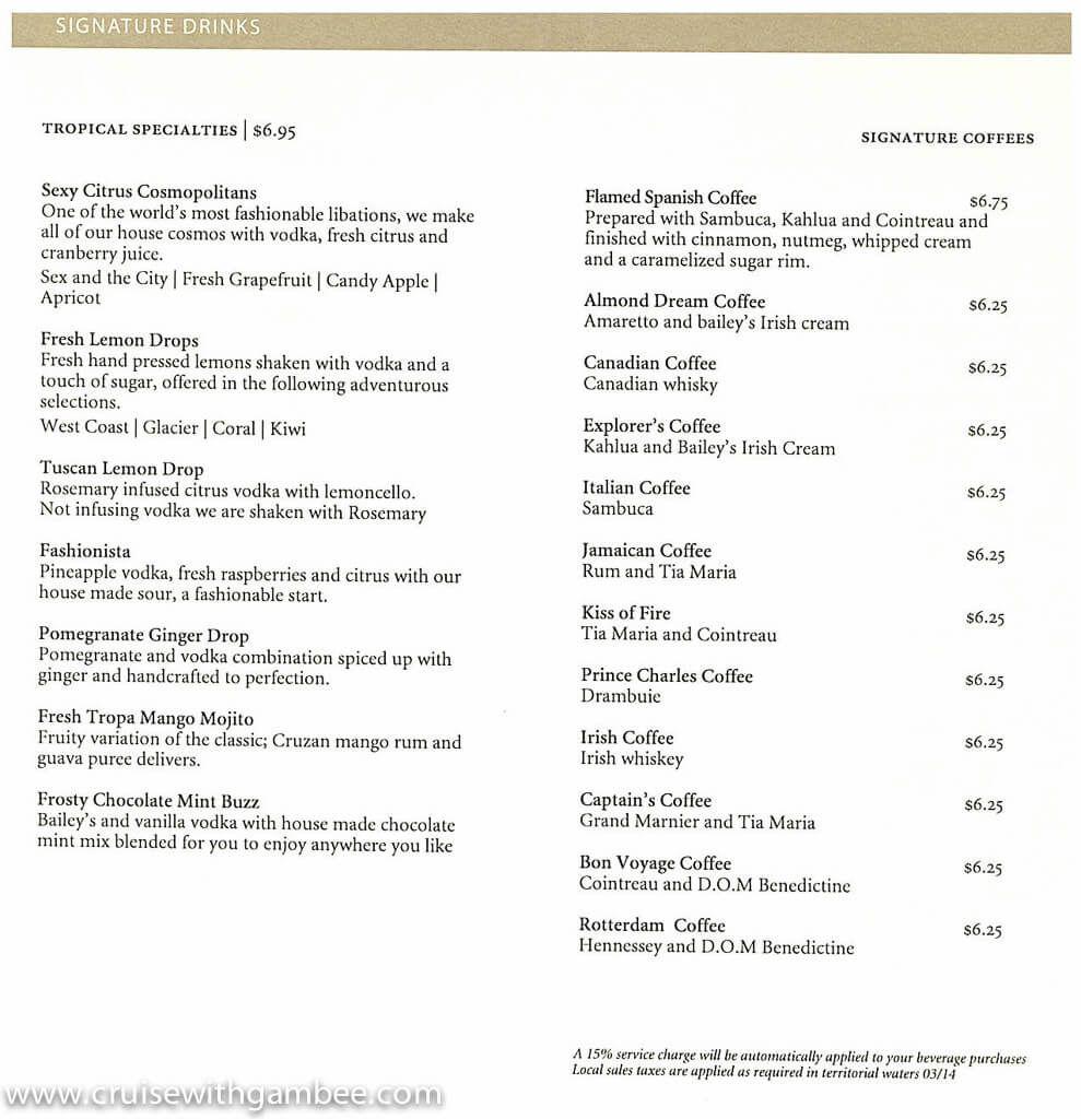 Signature Cocktail Menu - 2014-1