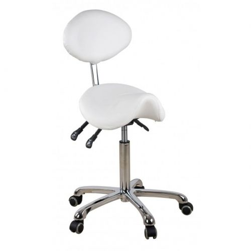 Rolling Saddle Stool With Back Support Spa Luxe Saddle Stools