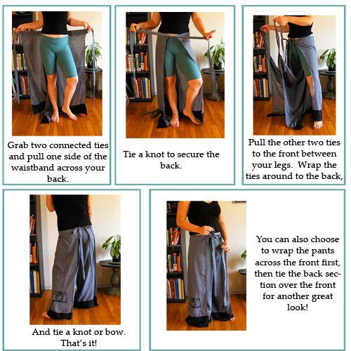 Easy Breezy Wrap Pants Tutorial | Wickelhose, Kleidung und Richtiger