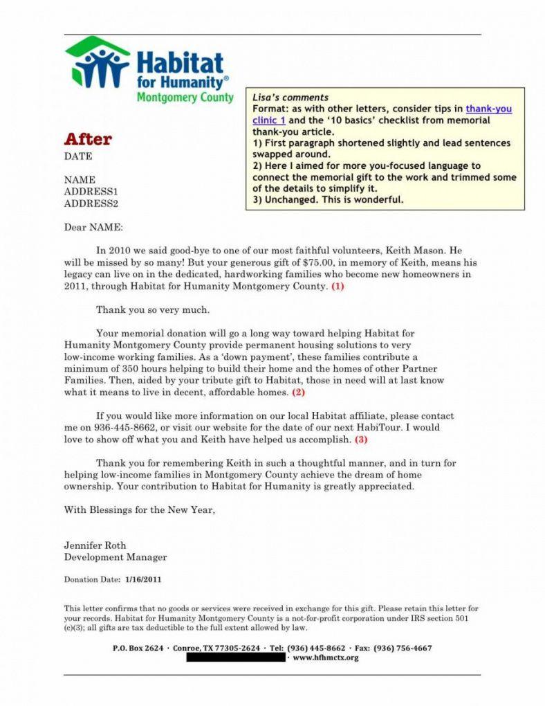 Get Our Sample Of Memorial Donation Letter Template Donation Letter Template Letter Templates Thank You Letter Sample