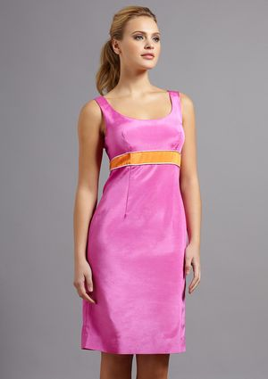 Lotusgrace scoop neck sheath with piping