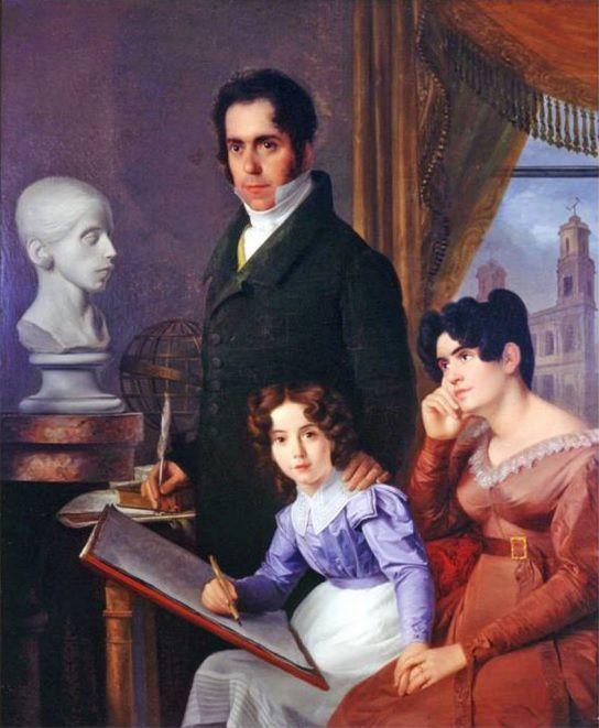Visconde e Viscondessa da Pedra Branca e sua filha a futura Condessa de Barral