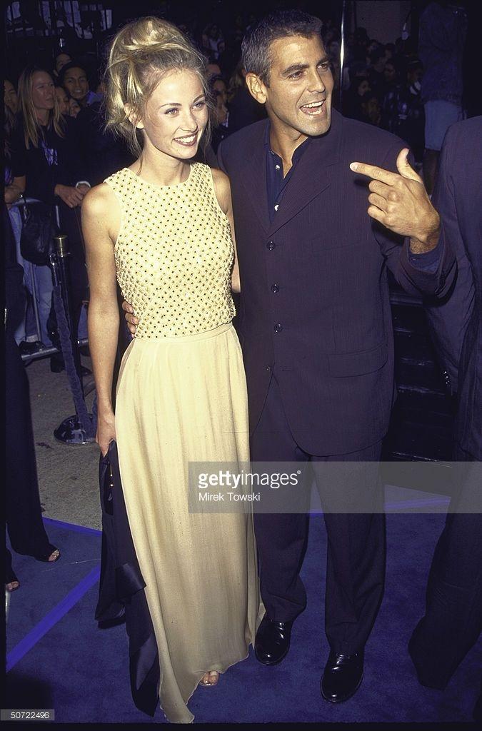 Actor George Clooney and girlfriend Celine Beltran at film ...
