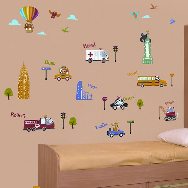 Art Applique New York Kids Wall Decals   Wall Sticker Outlet