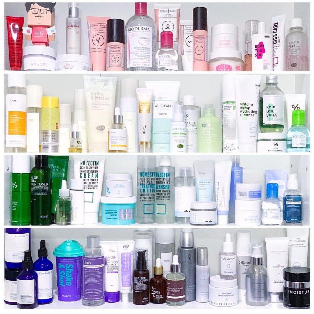 Korean Skin Care Vanity Shelfie Beauty Skin Care Korean Skincare Korean Beauty Skincare