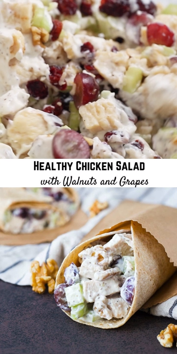 Healthy Chicken Salad with Walnuts and Grapes,  #Chicken #chickensaladrecipe #Grapes #Healthy #Salad #walnuts