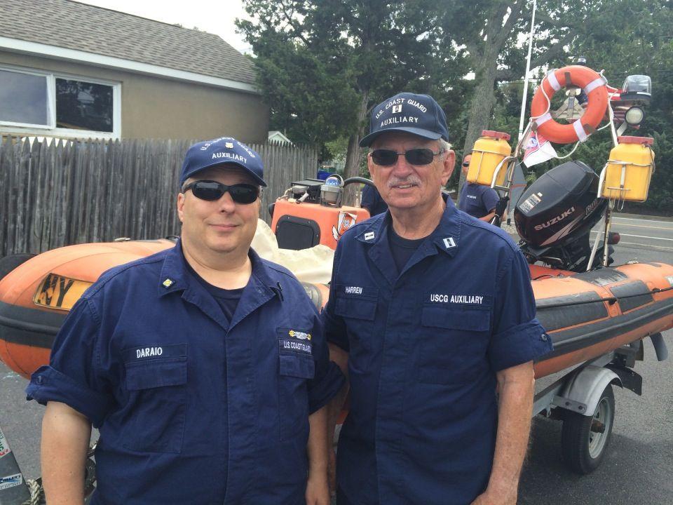 Bob Daraio and Paul Harren 08SEP14 Coast guard