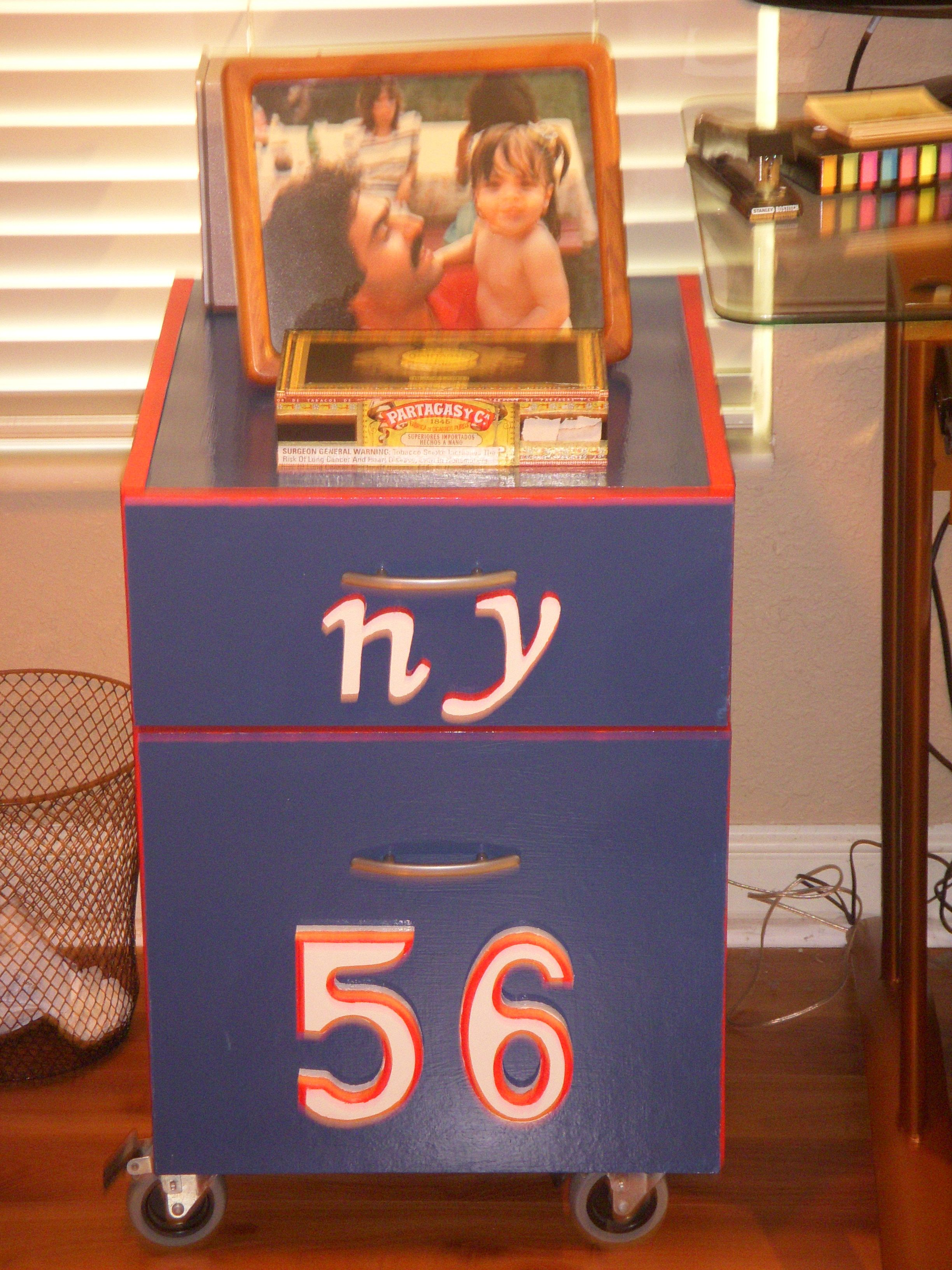 refinished old file cabinet, Go Giants   My Hobby   Pinterest   Filing