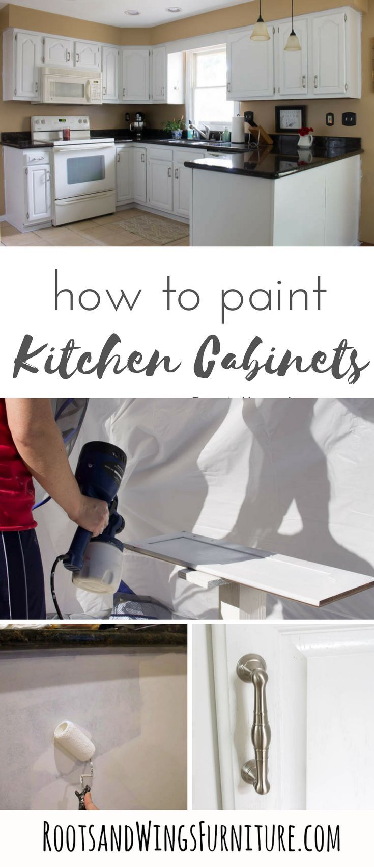 Oak kitchen cabinet makeover using alkyd paint cocinas makeover your kitchen with this painted kitchen cabinet tutorial use the best primer and alkyd solutioingenieria Gallery