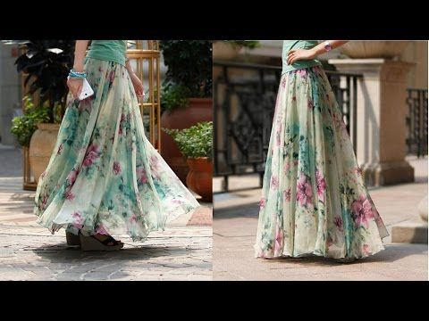 726400ab688465 Umbrella cut skirt with full gathers DIY