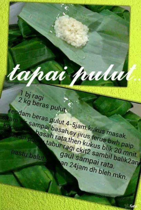Tapai Pulut Asian Desserts Traditional Cakes Food Receipes
