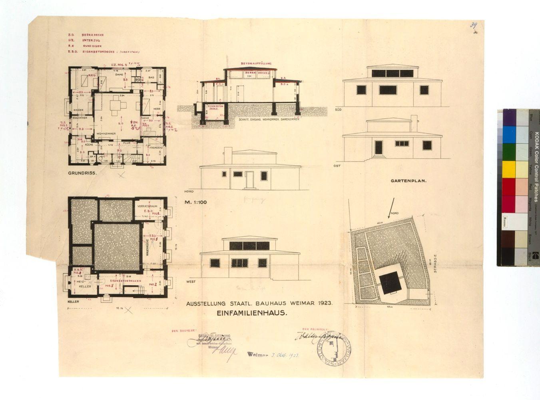 Muche, Walter Gropius Baugesuch für das Haus Am