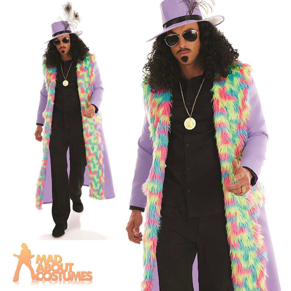 Adult Pimp Costume Mens Gangster Daddy Fancy Dress Outfit New  sc 1 st  Pinterest : pimp costumes for mens  - Germanpascual.Com