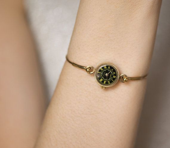 Vintage Watch Bracelet Seagull Gold Plated Lady Watch By Sovietera Vintage Watches Women Fashion Watches Vintage Watches