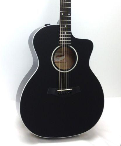 Taylor Guitars 214ce Blk Spruce Maple Grand Auditorium Acoustic Electric Guitar Black 841060001961 Acoustic Electric Guitar Acoustic Electric Guitar