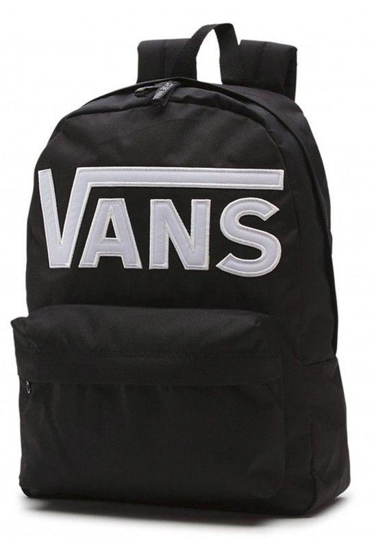 BACKPACK VANS OLD SKOOL II BLACK WHITE Selección de las mochilas mas trendy  en Kaotiko e-Shop ec1fe56def4