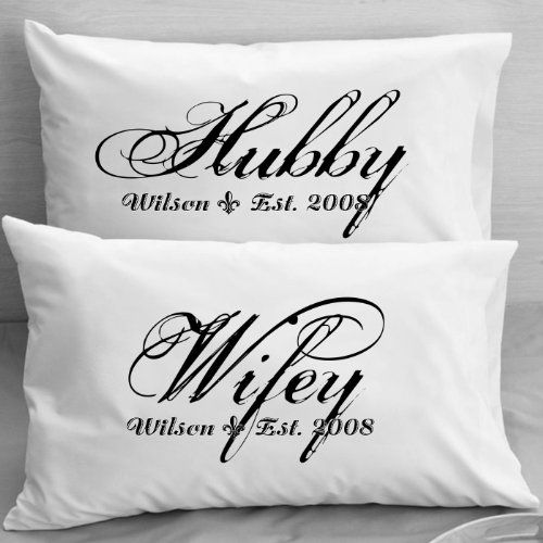 Personalized Pillowcases Wifey Hubby Husband And Wife S Gift Wedding Anniversary